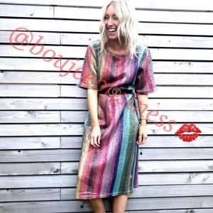 ZARA Rainbow Sequin Dress - Small